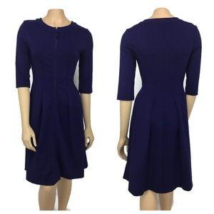 Pink Tartan Navy Blue Dress Size Small
